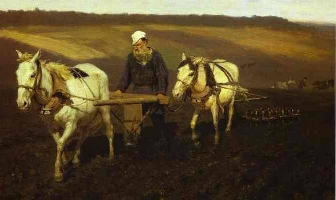 ilya-repin-portrait-of-leo-tolstoy-as-a-ploughman-on-a-field