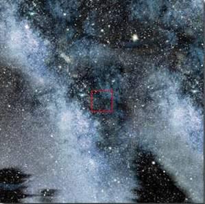 10^19 = 1000 έτη φωτός: Διακρίνουμε τμήμα του γαλαξία μας.