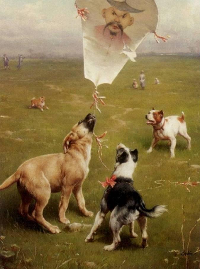Σκυλιά κυνηγούν χαρταετό - Carl Reichert