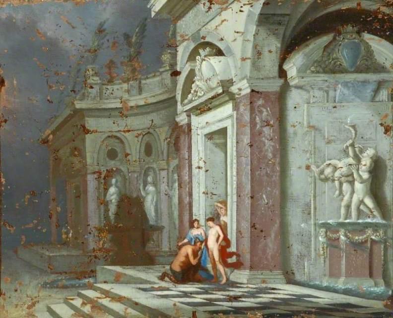 Δίας και Αλκμήνη σε ένα Αρχιτεκτονικό Περιβάλλον - Dirck van Delen - 1669
