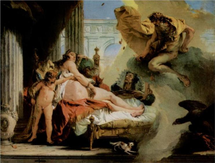Δίας και Δανάη -Giovanni Battista Tiepolo 1736