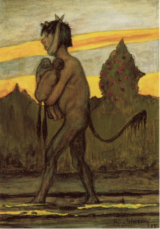 Hugo Simberg Poor devil with Twins