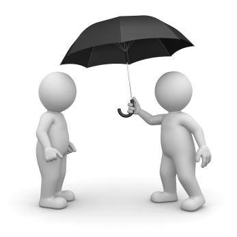 3D Character and Umbrella