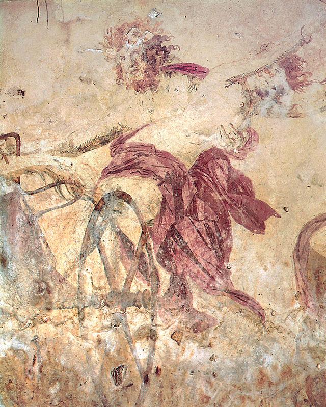 Ο Άδης απαγάγει την Περσεφόνη, τοιχογραφία στην Βεργίνα