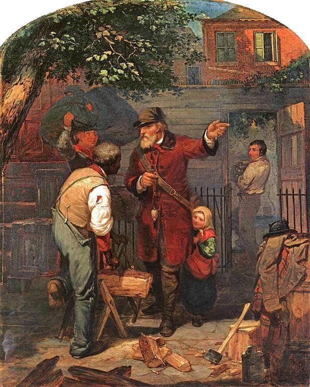ένας Γερμανός δείχνει σ έναν μετανάστη το δρόμο -Charles Felix Blauvelt - 1855