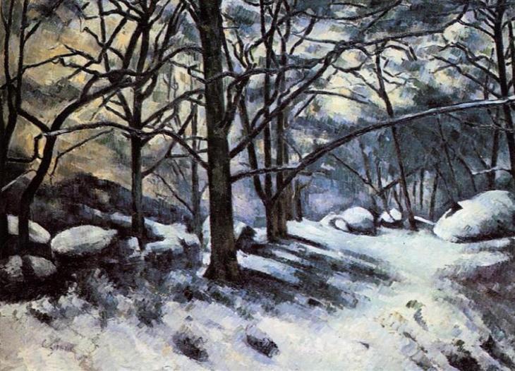 Το λιώσιμο του χιονιού. Fontainbleau - Paul Cezanne 1880