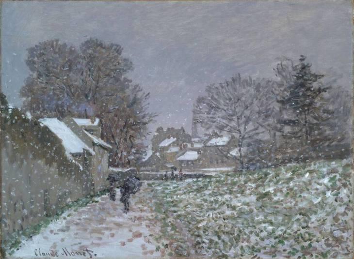 Μονέ, Οδός Argenteuil, η επίδραση του χιονιού, 1874
