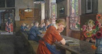Lübecker Waisenhaus / LÜBECK ORPHANAGE (1894) by Gotthardt KUEHL (Artist. Dresden,Germany, 1850-1915) … German Impressionism