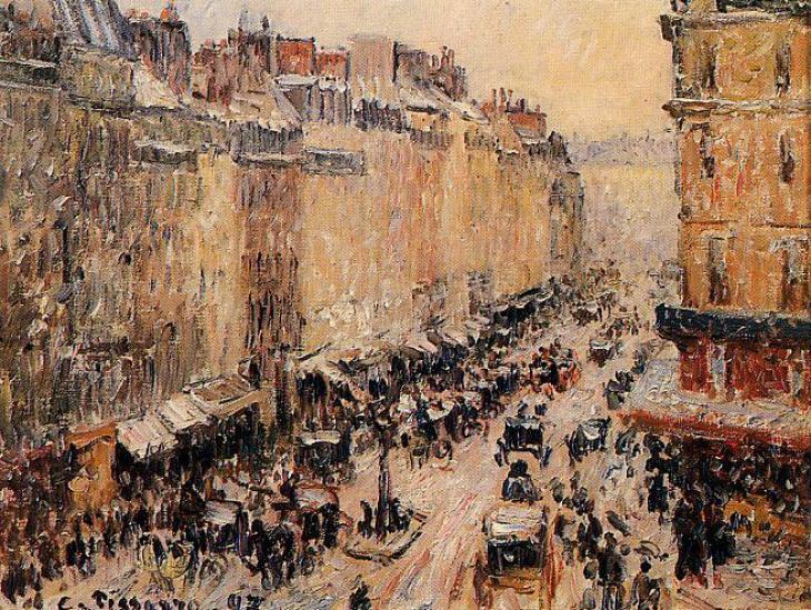 Η οδός Saint Lazare με χιόνι- Camille Pissarro 1897