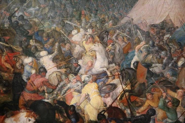 Jan Brueghel ο Πρεσβύτερος -Η μάχη της Ισσού (μεταξύ 1599-1600)