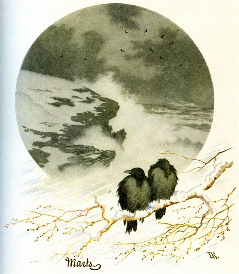 Μάρτιος - Theodor Kittelsen - 1890