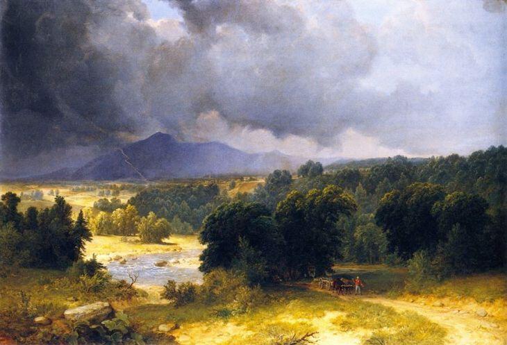 ψιχάλα τον Ιούνη - Asher Brown Durand - 1854