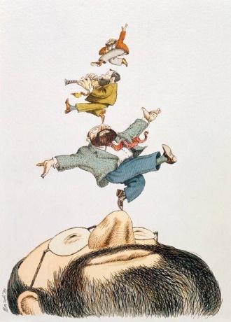 Umberto-Eco-Illustrazione-di-Tullio-Pericoli