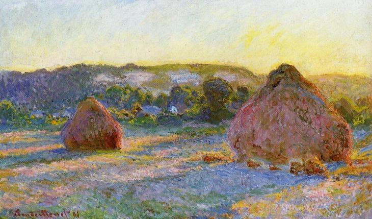 Θημωνιές στο σούρουπο(Το τέλος του καλοκαιριού) - Claude Oscar Monet - 1897