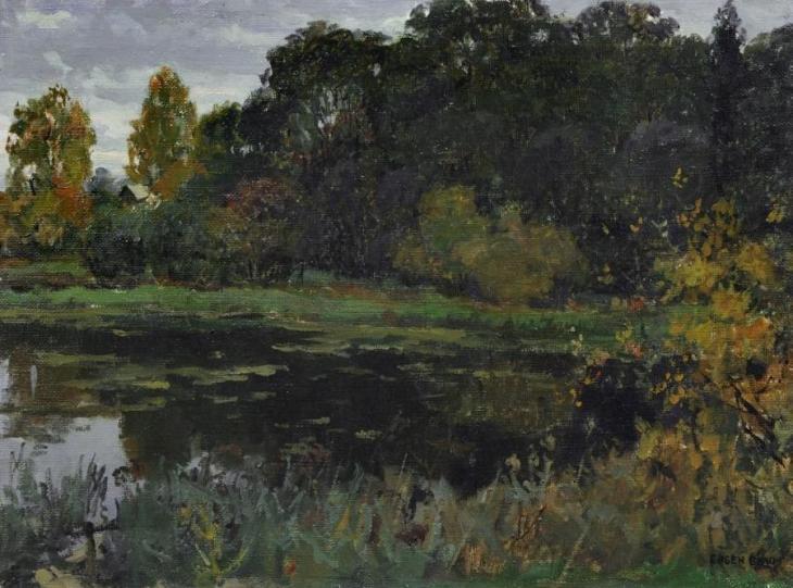 Λίμνη στα τέλη του καλοκαιριού - Eugen Felix Prosper Bracht - 1910