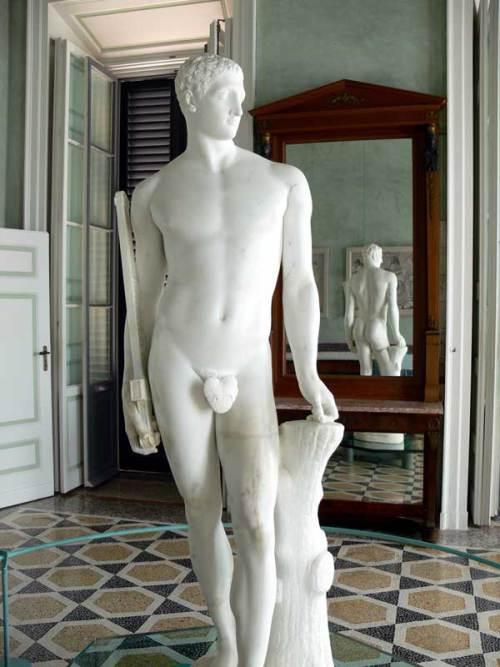 Παλαμήδης Villa Carlotta in Tremezzo ( Lago di Como ). Statue des Palamedes von Antonio Canova. Author, Wolfgang Sauber.