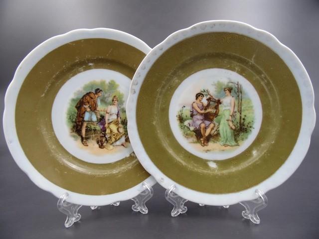 Декоративные тарелки с маркой Гарднера 1870-1890 гг