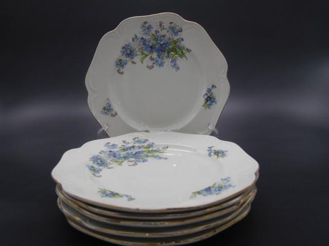 Набор десертных тарелок с маркой Кузнецова в Дулево 1890-1917 гг.