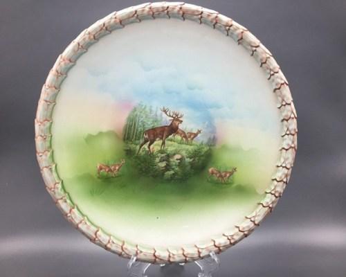 Тарелка панно Кузнецов фарфор до 1917 года