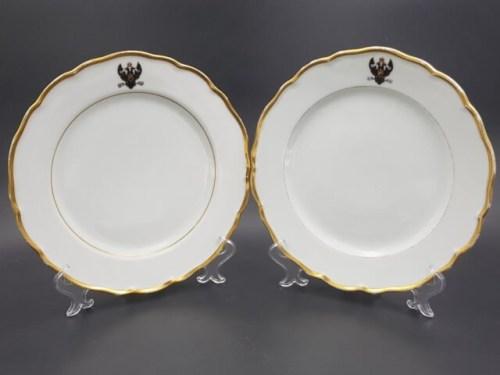 Тарелки из сервиза генерал-адмирала великого князя Константина Николаевича 1827-1892 годов