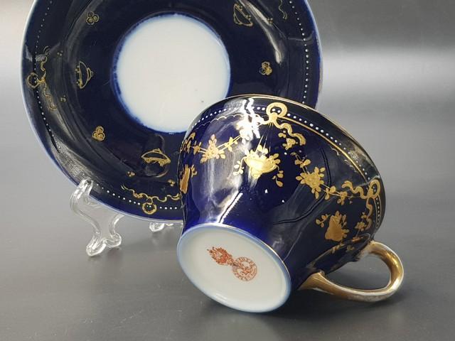 Чайная пара с маркой Гарднера до 1890 года