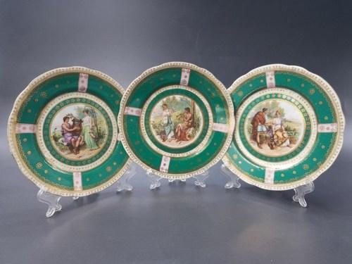Интерьерные тарелки с маркой Кузнецова до 1917 года