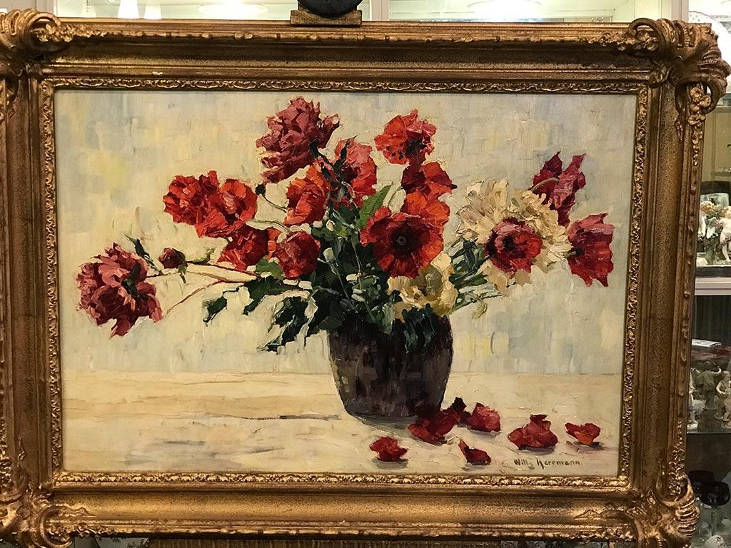 Blumenstillleben von Willy Herrmann