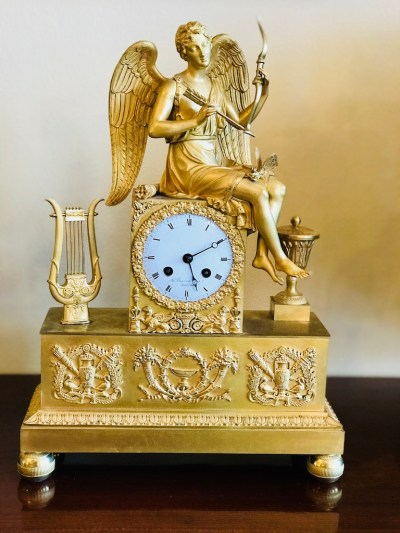 Pendule, Bronze feuervergoldet