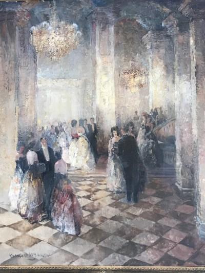 Szene eines Ballsaals – Ludwig Gschossmann