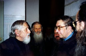 О. Виталий Боровой, о. Виктор (Мамонтов), о. Сергий Гаккель, СС. Аверинцев