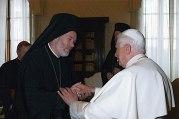 С папой Бенедиктом XVI.