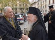 Патриарх Варфоломей и глава Pro Oriente Иоганн Марте.