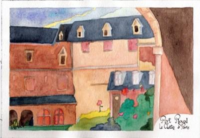 Abbaye de Port Royal (Aquarelle)