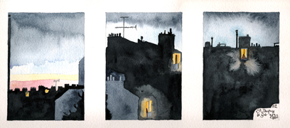 Saint Jacques - evening no. 2 - Triptych