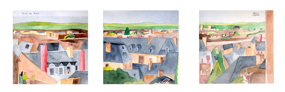 CLICK TO ENLARGE - rooftops in Blois