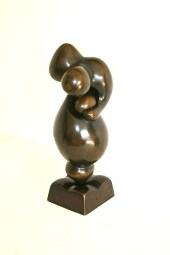 Sculpture en bronze à patine brune nuancée, signée de Igor BALARIN (1945)