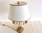 Lampe bouillotte, candélabre monté en lampe, Style Louis XV