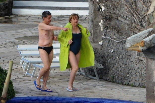 ITALY-GERMANY-MERKEL-HOLIDAY