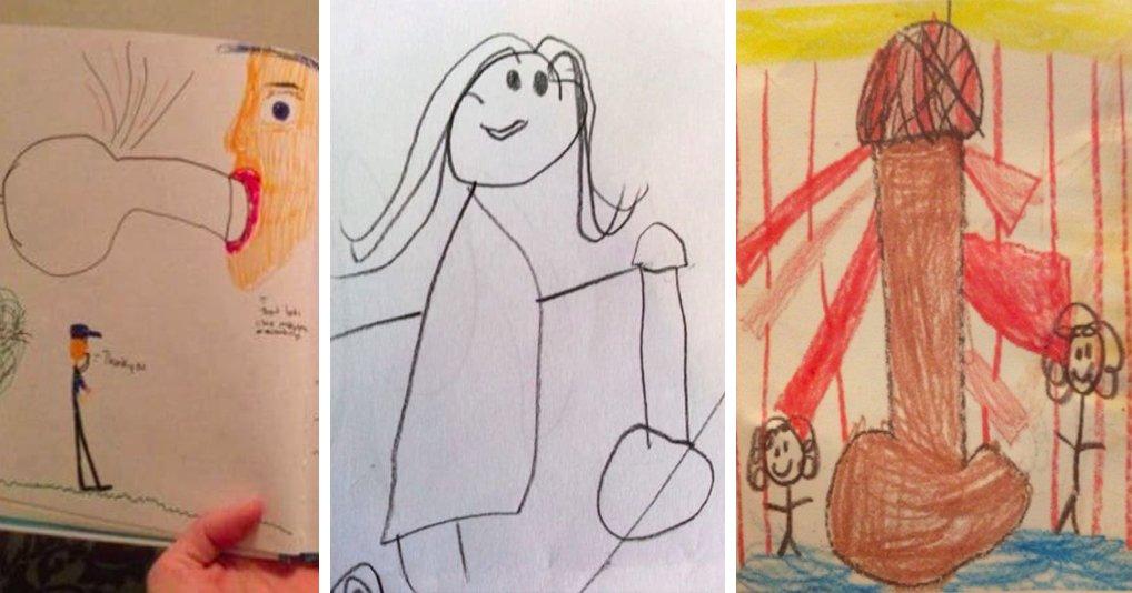 Что вы здесь видите? 15 забавных детских рисунков