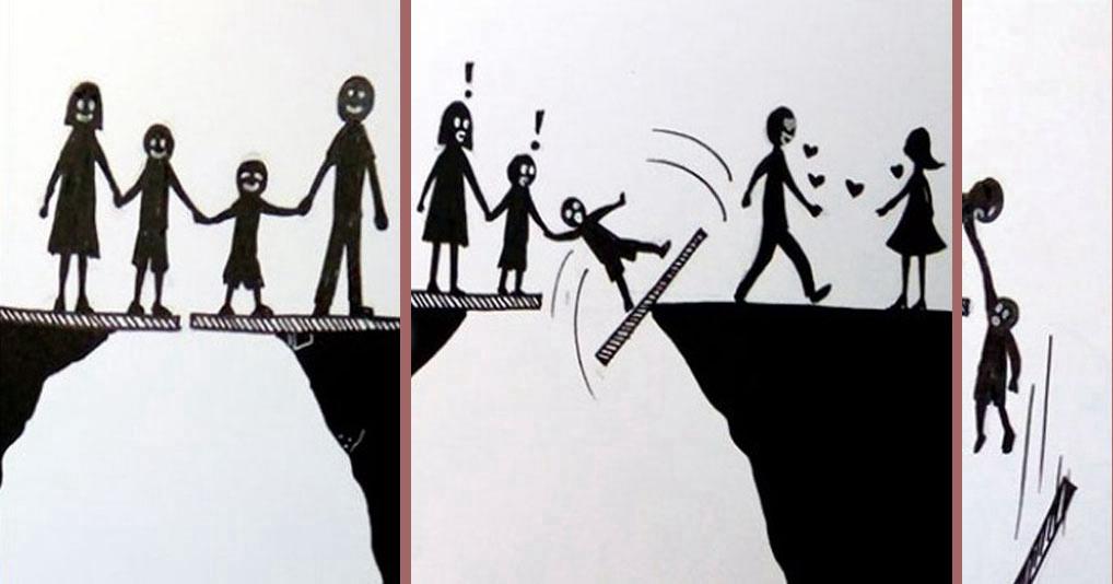 Как выглядит развод глазами детей: грустные, но поучительные иллюстраций