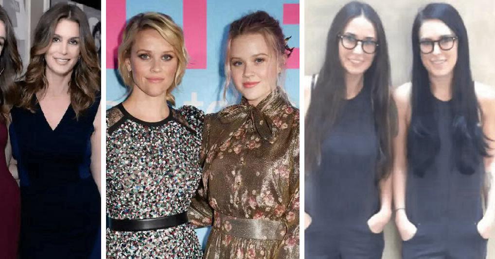 Голливудские дочки и их мамы, которые выглядят как близнецы