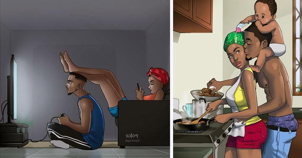 Правдивые иллюстрации о жизни влюбленных пар