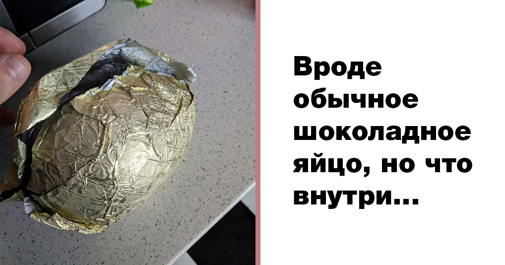 Парень приготовил для девушки пасхальный подарок – шоколадное яйцо. Все бы ничего, но дело-то было 1 апреля…