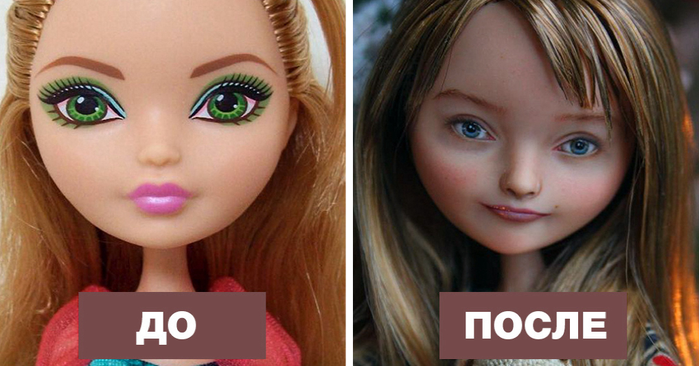 Украинская художница делает кукол более реалистичными, перерисовывая им лица