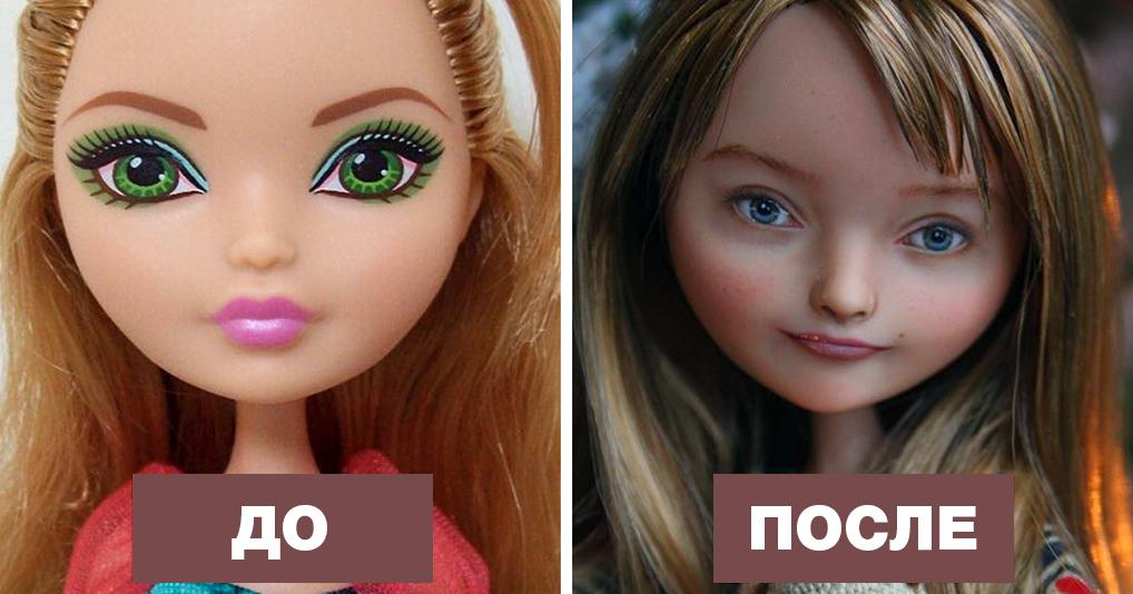 Украинская художница смывает с кукол макияж и придает их лицам больше реалистичности