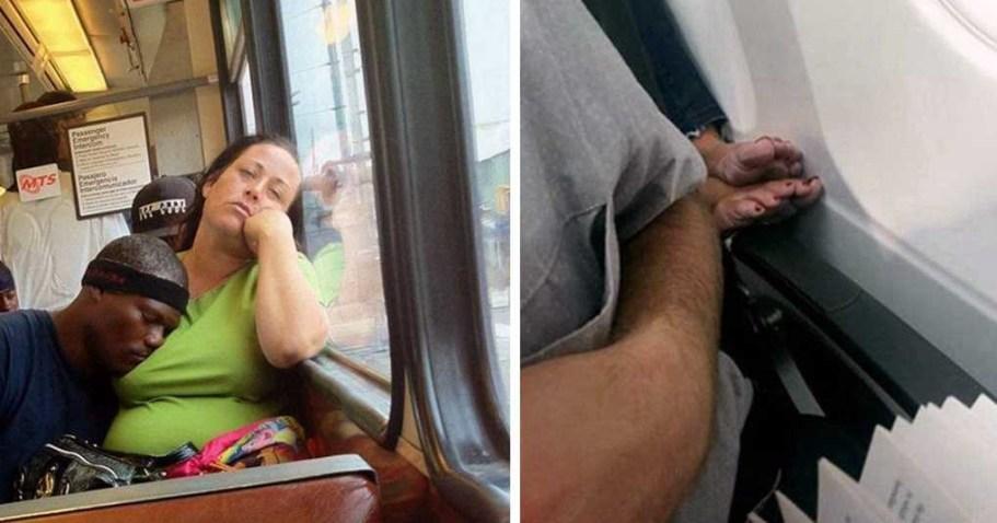 Вы точно не хотели бы пересечься в общественном транспорте с подобными личностями