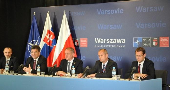 Slovenská delegácia na samite NATO vo Varšave (zdroj: prezident.sk)