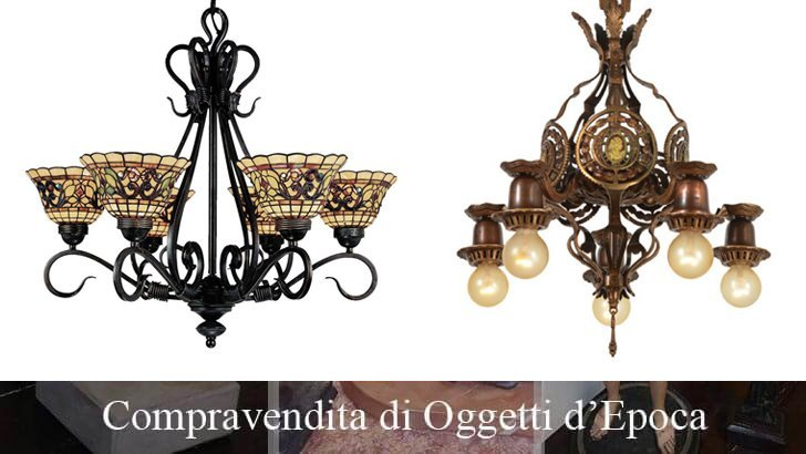 Lampadario in ceramica smaltata e parzialmente dorata, lavorata a motivi fitomorfi. Lampadari Antichi In Cristallo Ottone Classici Di Murano