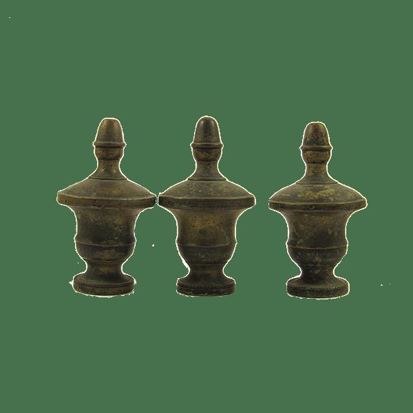 Pomelli in ottone da cassetto antichi
