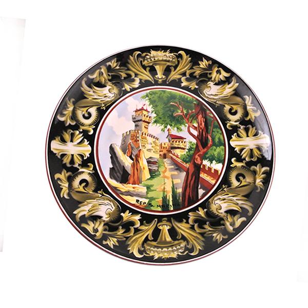 Coppia di piatti ceramica Titano – san Marino